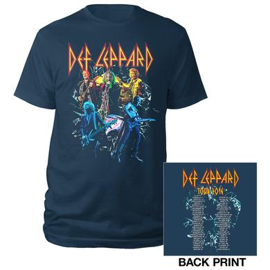 Def Leppard Living Color Live Shots Tour 2016 Tee