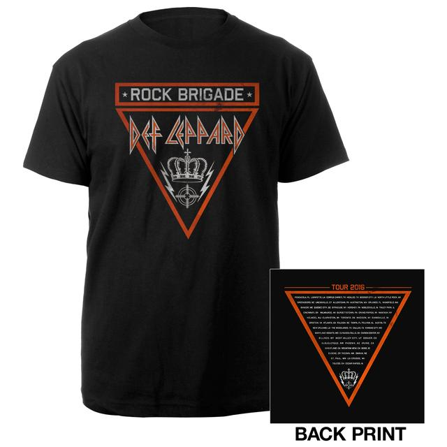 Def Leppard Rock Brigade Crown Tour 2016 Tee