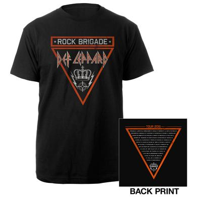 Def Leppard Rock Brigade Crown Tour 2016 Tee