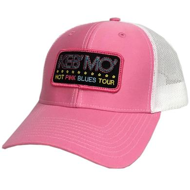 Keb Mo Pink and White Ballcap