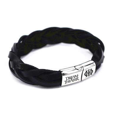 Dream Theater Braided Leather Wristband