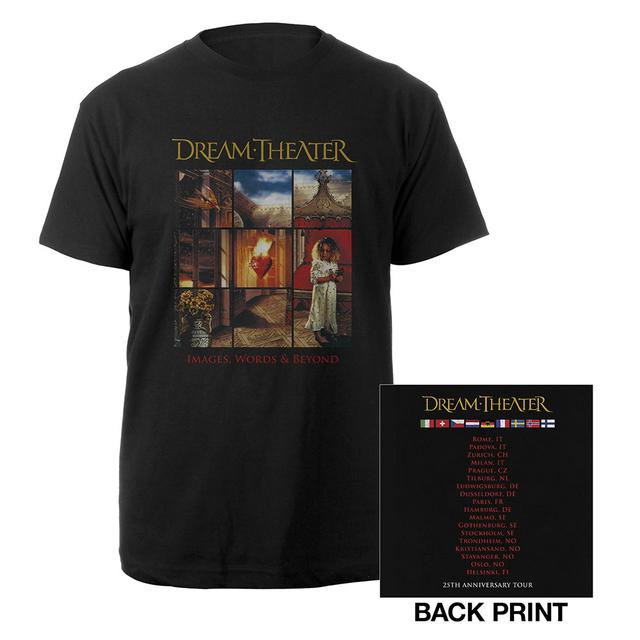 Dream Theater Images and Words 25th Anniversary 2017 EU Tour Tee