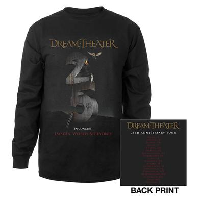 Dream Theater Images and Words 25th Anniversary 2017 EU Tour Longsleeve Tee