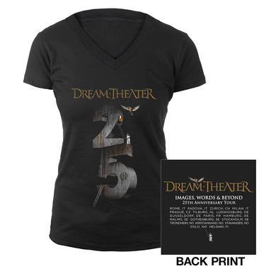Dream Theater Women's Images and Words 25th Anniversary 2017 EU Tour Tee