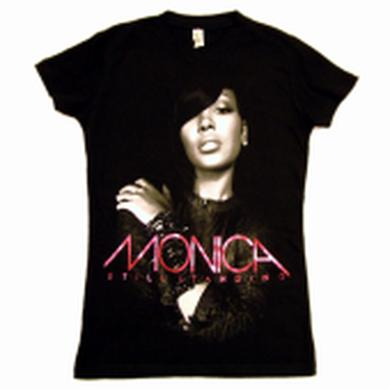 Monica Ladies Black Tee- Still Standing