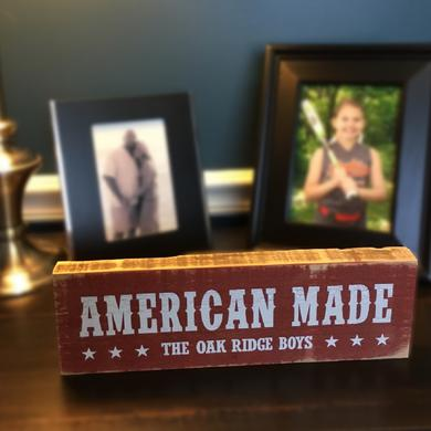 Oak Ridge Boys American Made Wooden Block