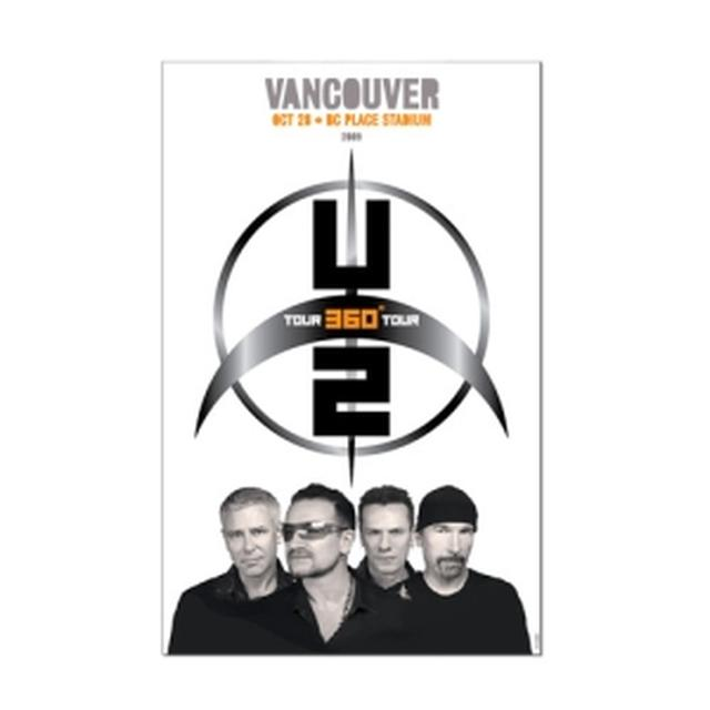 U2 Vancouver Event Poster