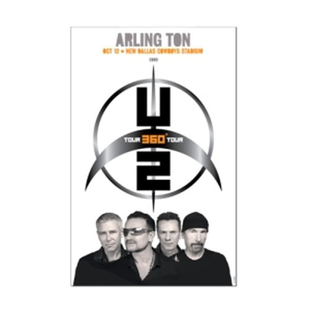 U2 Arlington Event Tour Poster