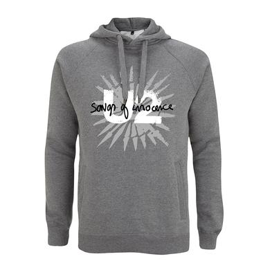 U2 Songs Of Innocence Pull Over Hooded Sweatshirt (Grey)