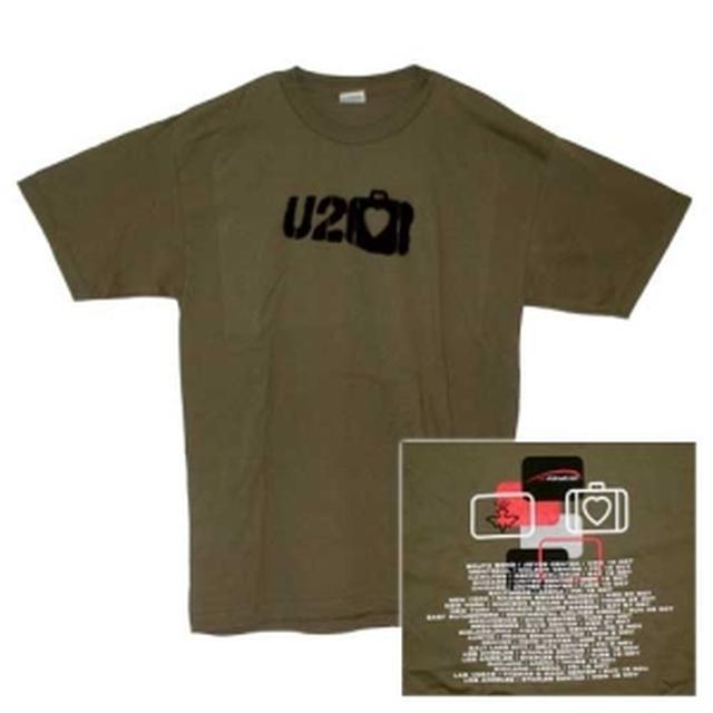 U2 Suitcase Logo Green Itinerary T-Shirt