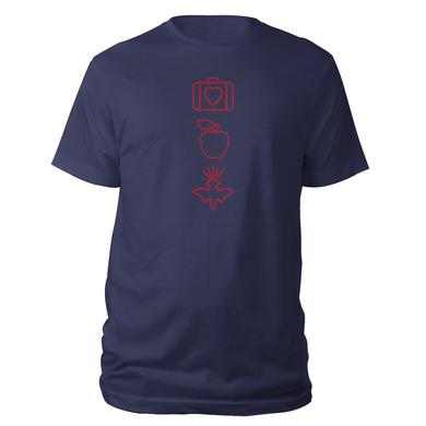 U2 Fall 2001 3-Symbol Navy T-Shirt