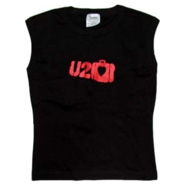 U2 Suitcase Logo Ladies Sleeveless Shirt