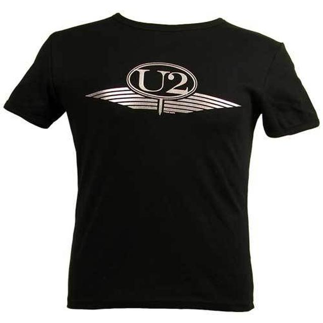 U2 Silver Wings Logo Girls Skinny Tee