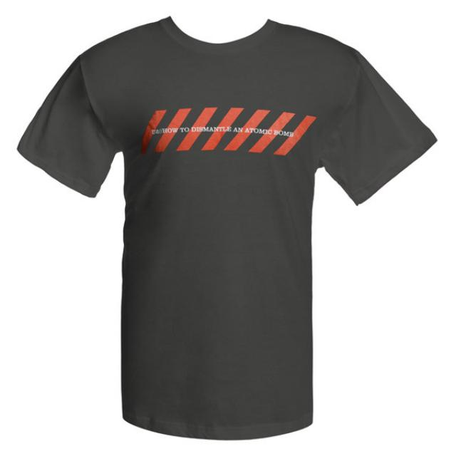 U2 Charcoal Grey Chevrons Logo T-shirt