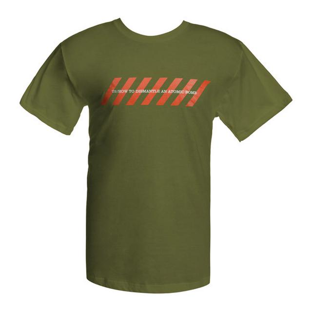 U2 Olive Green Chevrons Logo T-shirt
