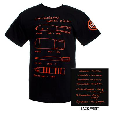 U2 Black Intercontinental Ballistic Missile T-shirt