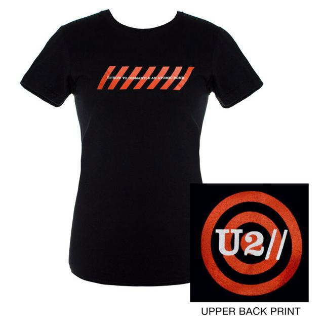 U2 Ladies Black Chevrons Logo Babydoll Shirt