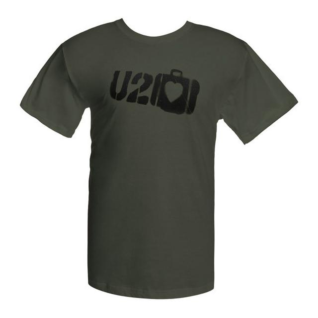 U2 Elevation Tour Suitcase Logo Green T-Shirt