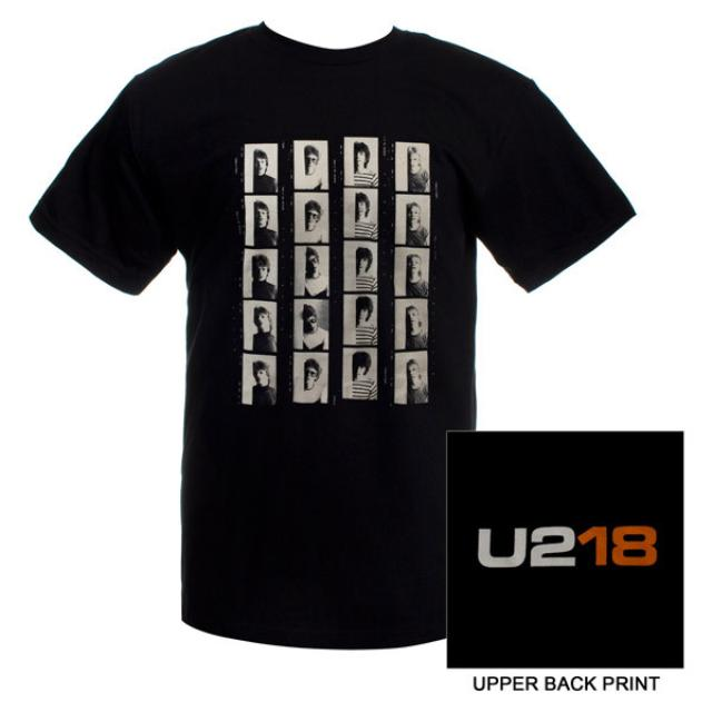 Mens Black 'U218' T-shirt