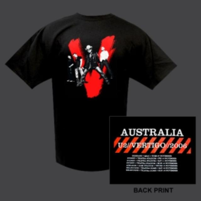 U2 Vertigo Shirt, Aus/NZ Dates