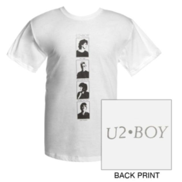 U2 'BOY' Album Portraits T-Shirt  (White)