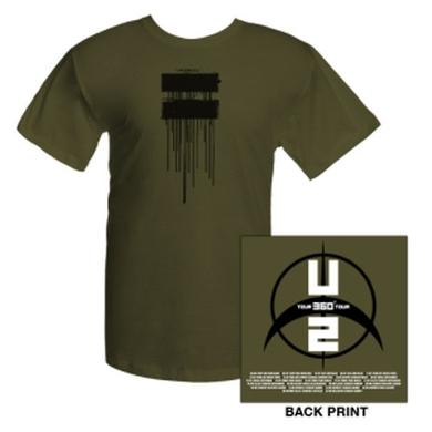 U2 Dripping Logo T-Shirt With European Tour Dates