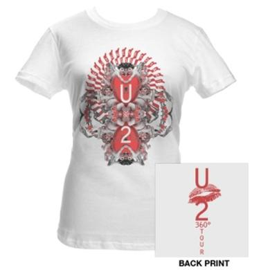 U2 Big Kiss Babydoll Shirt