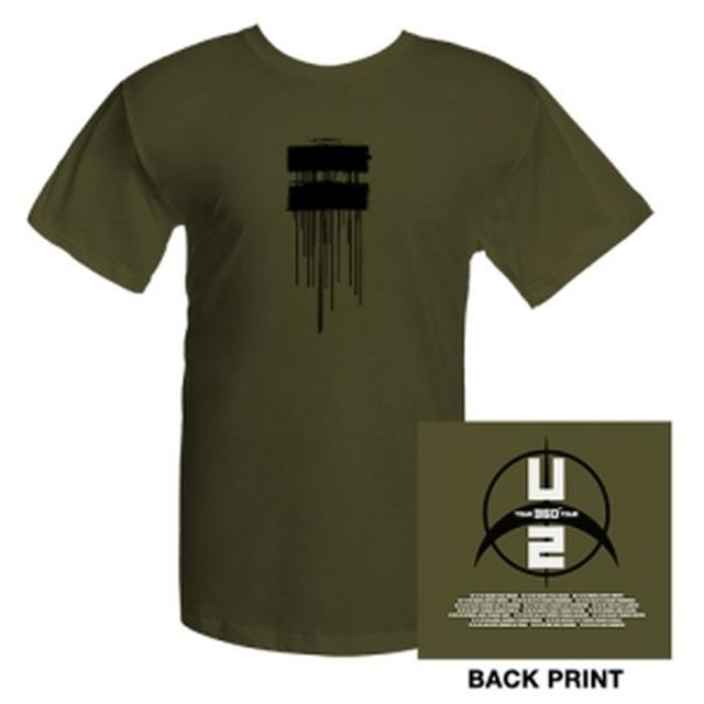 U2com Dripping Logo T-Shirt With Tour Dates