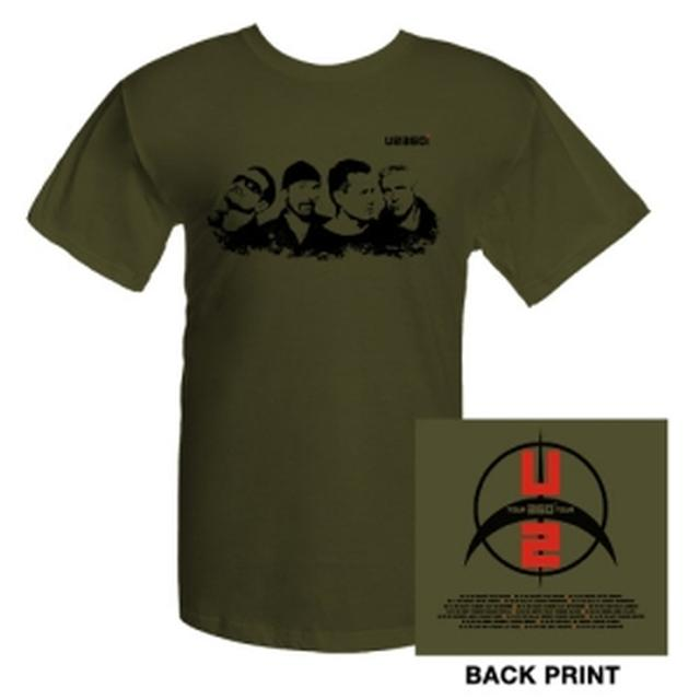 U2 Band Photo T-Shirt With US Tour Dates