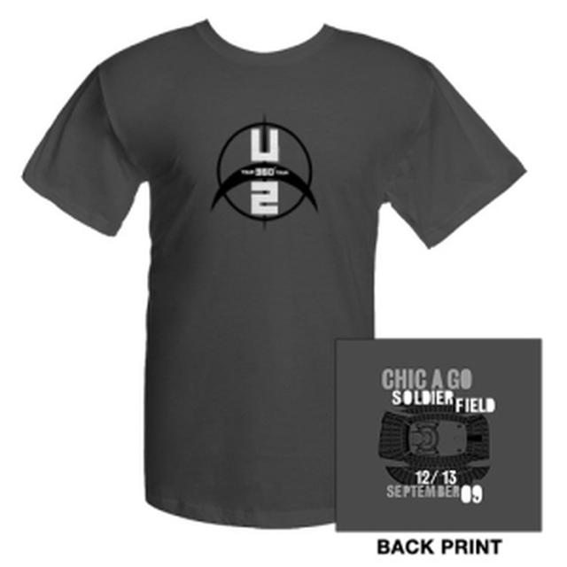 U2com Soldier Field  Chicago T-Shirt
