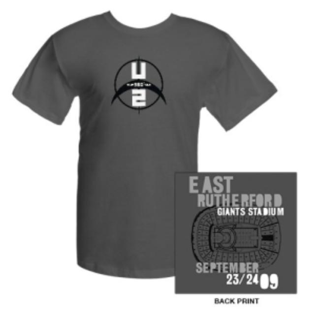U2 Giants Stadium East Rutherford T-Shirt
