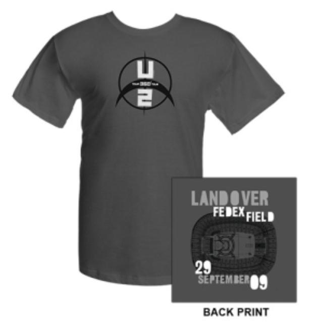 U2 FedEx Field Landover T-Shirt