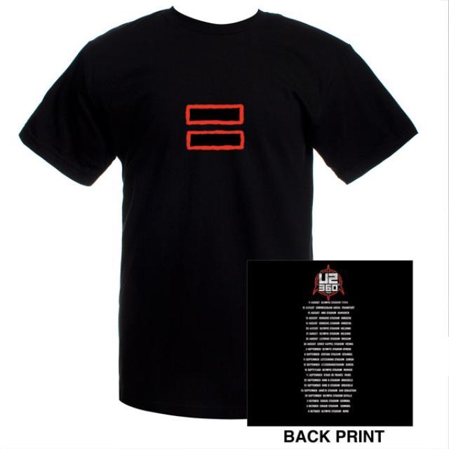 U2 Equal Logo/European Tour Dates T-shirt