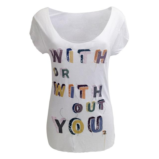 U2 'With Or Without You' Embellished T-Shirt