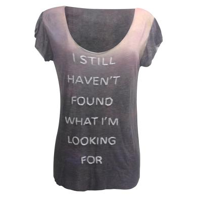 U2 'Still Haven't Found' Dip Dye Embellished T-Shirt