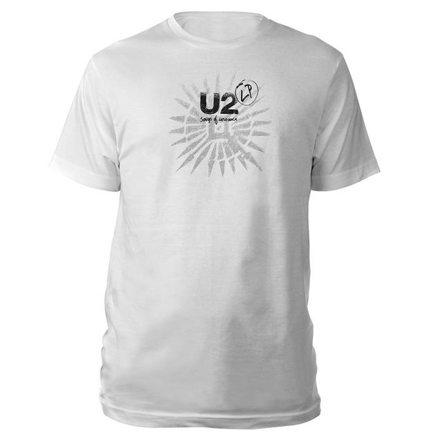 U2 Songs Of Innocence Tattoo/LP T-Shirt (White) (Vinyl)