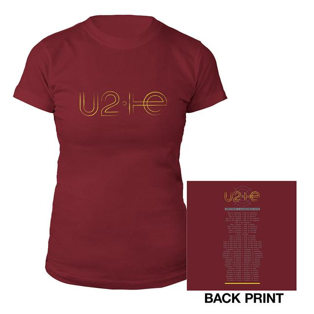 U2ie Tour Logo Women's T-Shirt Cranberry