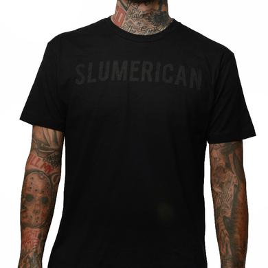 Slumerican Black on Black Tee