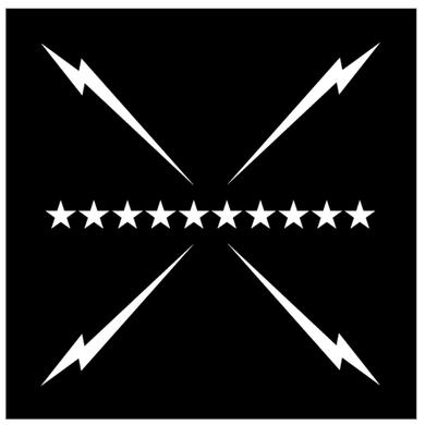 Slumerican Flag Design Black Bandana