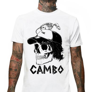 Slumerican Cambo White Skull Tee