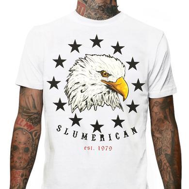 Slumerican Eagle White Tee