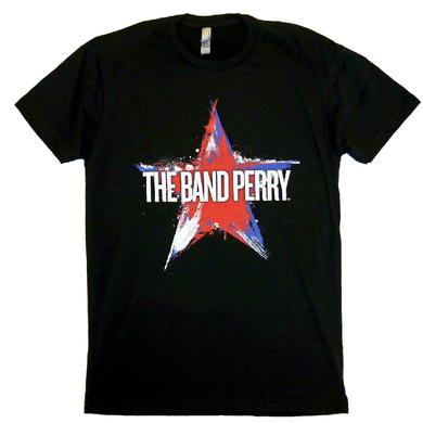 The Band Perry Black Tee- Star Design