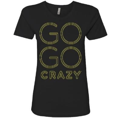 The Band Perry Ladies Black Tee- Go Go Crazy