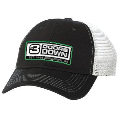 3 Doors Down Black and White Ballcap