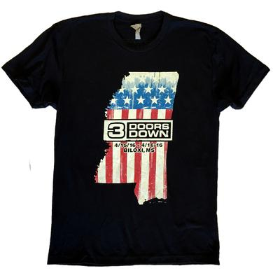 3 Doors Down Biloxi, MS Event Tee