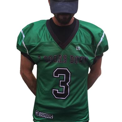 3 Doors Down 3DD Kryptonite Green Authentic Football Jersey