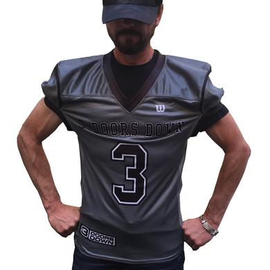 3 Doors Down 3DD Grey Authentic Football Jersey