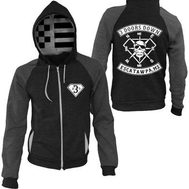 3 Doors Down Black and Grey Custom Hoodie