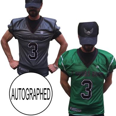 3 Doors Down 3DD AUTOGRAPHED Authentic Football Jersey
