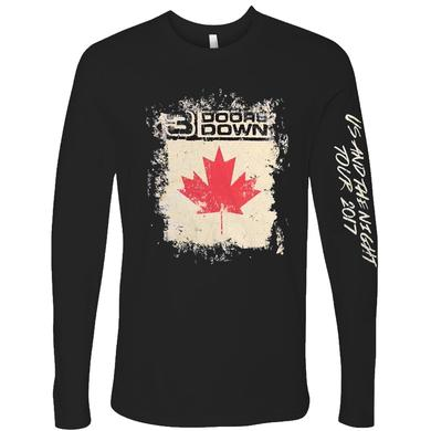 3 Doors Down Long Sleeve Black Canada Tour Tee